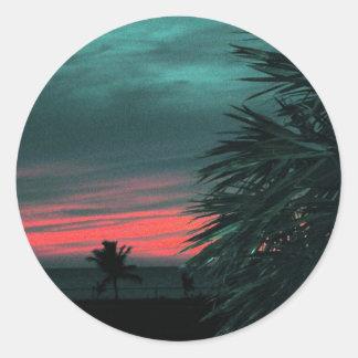 Florida Keys Sunset Classic Round Sticker
