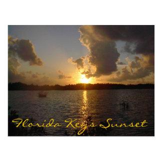 Florida Keys Sunset Postcard