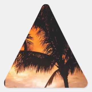 Florida Keys Sunset Triangle Sticker