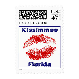 Florida Kiss Kissimmee Vacation Travel Stamp FL