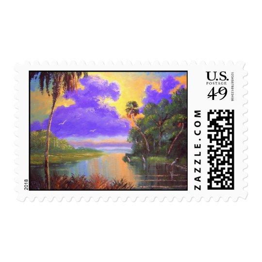 Florida Landscape Art Postage Stamps