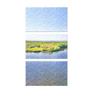 Florida Landscape canvas print: river, ocean, sky