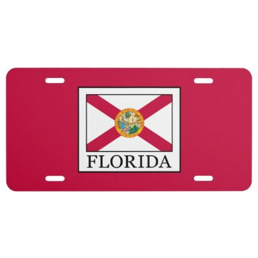 Beach Themed Florida License Plate