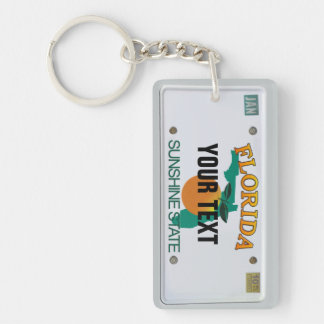 Florida License Plate Double-Sided Rectangular Acrylic Keychain