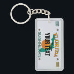 "Florida License Plate Keychain<br><div class=""desc"">Insert your name (or any other text) as long as it fits. What you see is what you get.   More items with this design:  www.zazzle.com/aura2000/floridalicenseplate</div>"