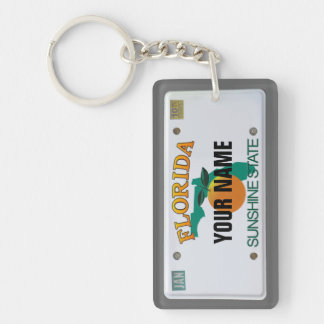 Florida License Plate Single-Sided Rectangular Acrylic Keychain