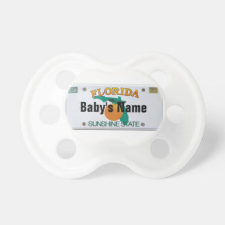 Florida license plate with Baby's name Pacifier