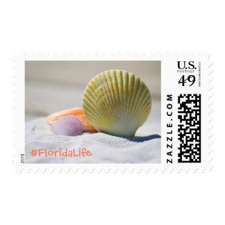 Florida Life Beach Shell Postage Stamp
