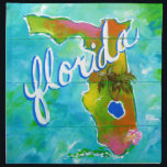 "Florida Logo Cloth Napkin<br><div class=""desc"">Created from my Original art</div>"