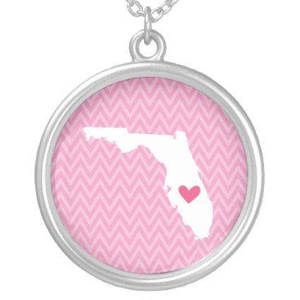 Florida Love Chevron State Map Pendants