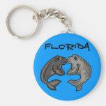 Florida manatee souvenir keychain