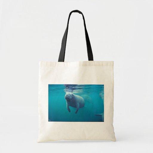 Florida Manatee Tote Bag