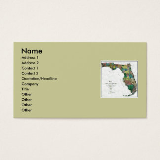 Florida Map and State Flag Business Card