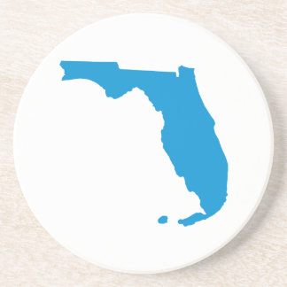 Florida map drink coaster