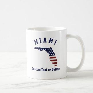 Florida Map | Patriotic USA Flag | Your City, Text Coffee Mug
