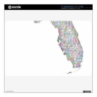 Florida map skins for MacBook air