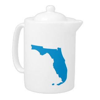 Florida map teapot