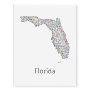 Florida Map Tattoos.Boundary Temporary Tattoos Zazzle