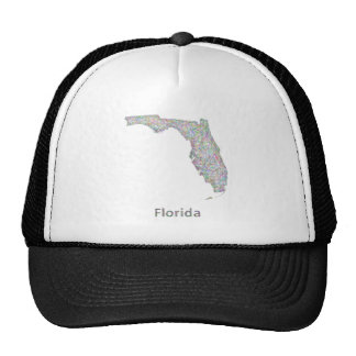 Florida map trucker hat