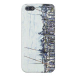Florida Marina Graphic with boats and sky iPhone 5 Case