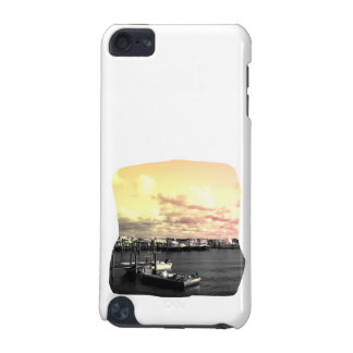 Florida Marina Photo Yellow and Pink Sky iPod Touch (5th Generation) Cover