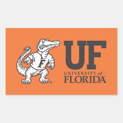 Florida Mascot Albert - Black & White Rectangular Sticker