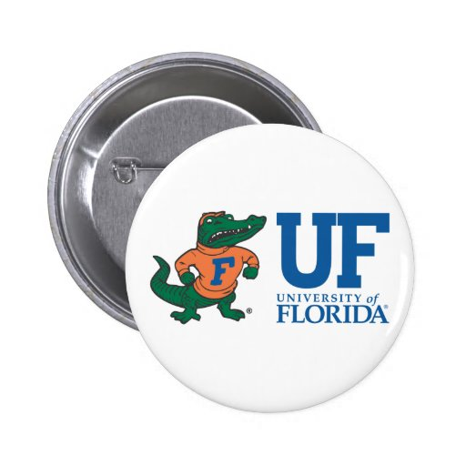 Florida Mascot Albert With Hat - Color Button