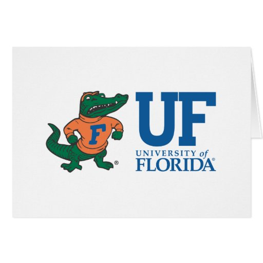 Florida Mascot Albert With Hat - Color Card