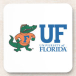 Florida Mascot Albert With Hat - Color Beverage Coasters