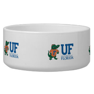 Florida Mascot Albert With Hat - Color Pet Water Bowls