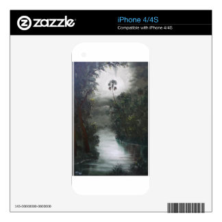 Florida Misty RIver Moss Decals For iPhone 4