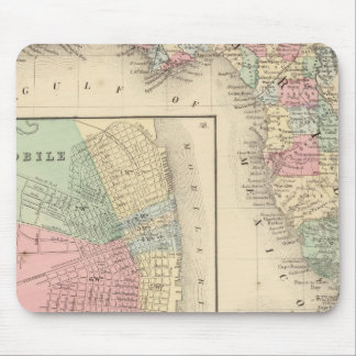 Florida, Mobile Map by Mitchell Mouse Pad