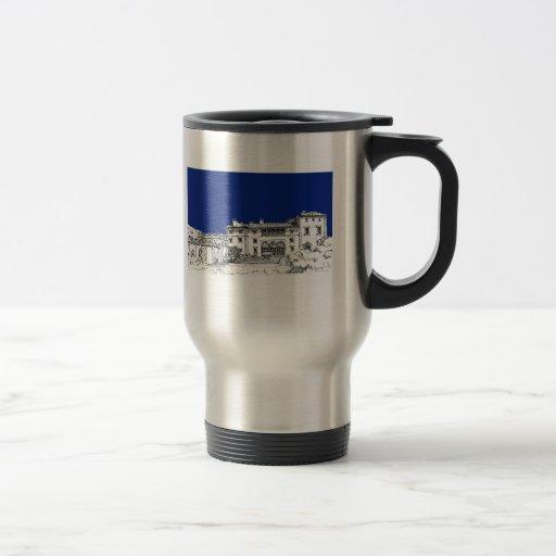 Florida museum in blue 15 oz stainless steel travel mug