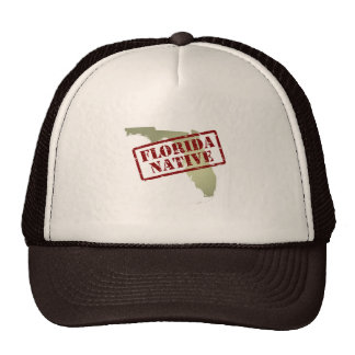Florida Native Stamped on Map Trucker Hat