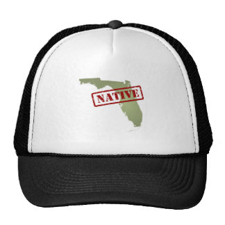 Florida Native with Florida Map Trucker Hat