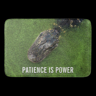 Florida Nature • Alligator • Patience is Power Bathroom Mat