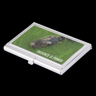 Florida Nature • Alligator • Patience is Power Business Card Case