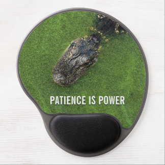 Florida Nature • Alligator • Patience is Power Gel Mouse Pad