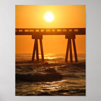 Florida Ocean Sunset 8.5x11 Poster