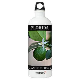Florida Orange Blossom and small Orange Aluminum Water Bottle