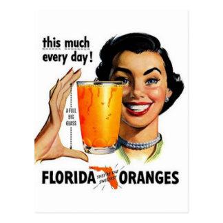 Florida Orange Juice Postcard