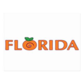 FLORIDA Orange Text Postcard