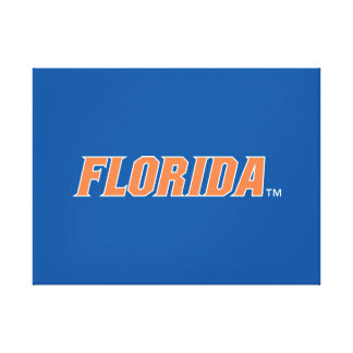Florida - Orange & White Canvas Prints