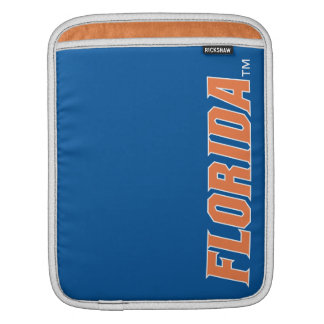 Florida - Orange & White iPad Sleeve