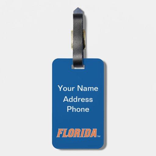 Florida - Orange & White Luggage Tag