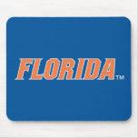 Florida - Orange & White Mouse Pad
