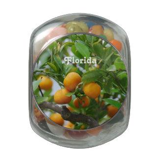 Florida Oranges Glass Jars