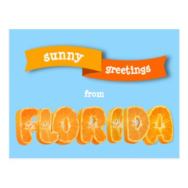 Beach Themed Florida Oranges - greetings - souvenir Postcard