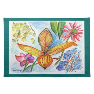 Florida orchid Buds Placemat