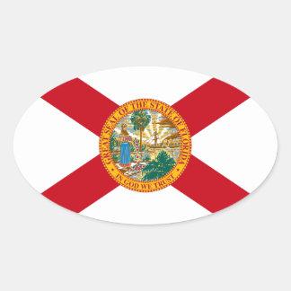 Florida Oval Flag Sticker